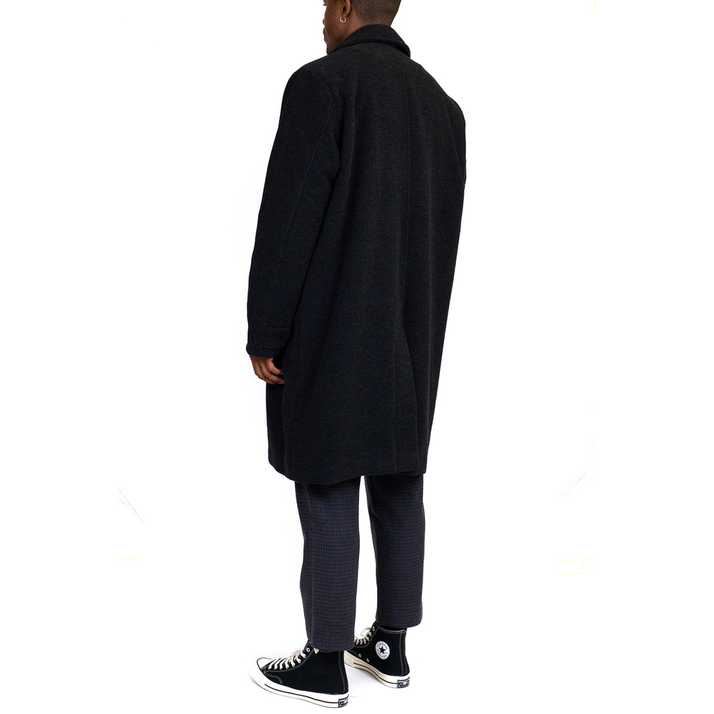 Schnayderman's Car Coat Merino Wool Dark Grey Melange