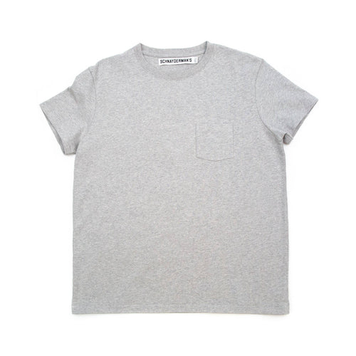 Schnayderman's T-Shirt Chest Pocket Grey Melange