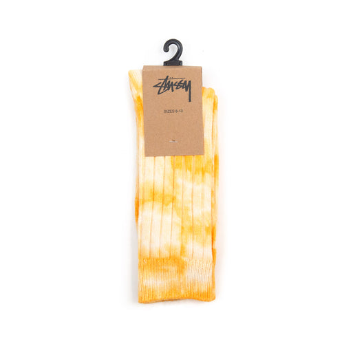 Stüssy Dyed Ribbed Crew Socks Yellow