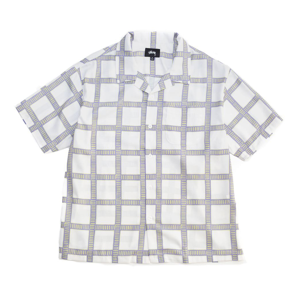 Stüssy Hand Drawn Plaid Shirt Off White