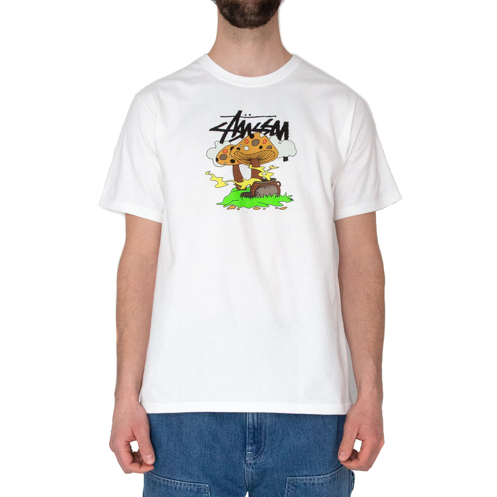 Stüssy Something's Cookin' Tee White