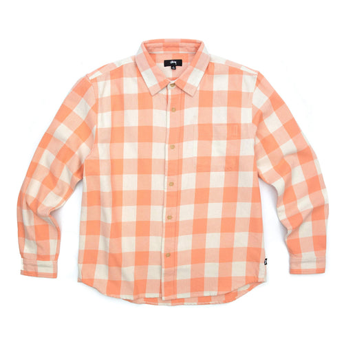 Stüssy Venice Plaid LS Shirt Peach