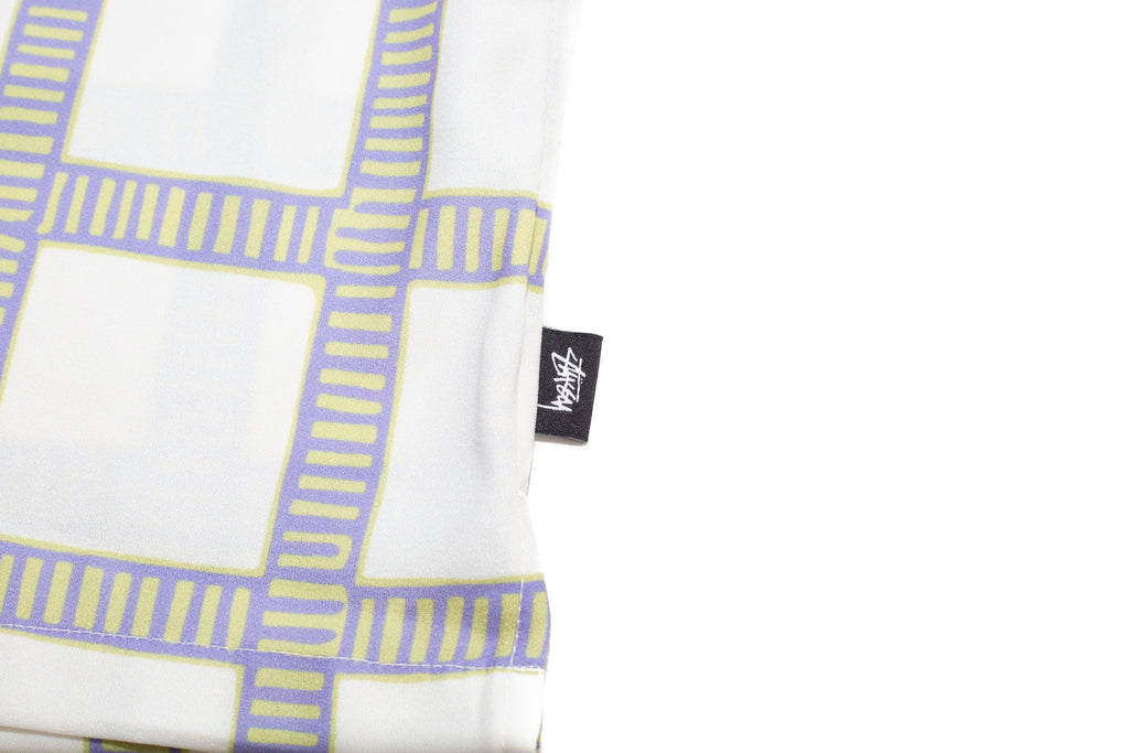 Stüssy Hand Drawn Plaid Shirt Off White Tag