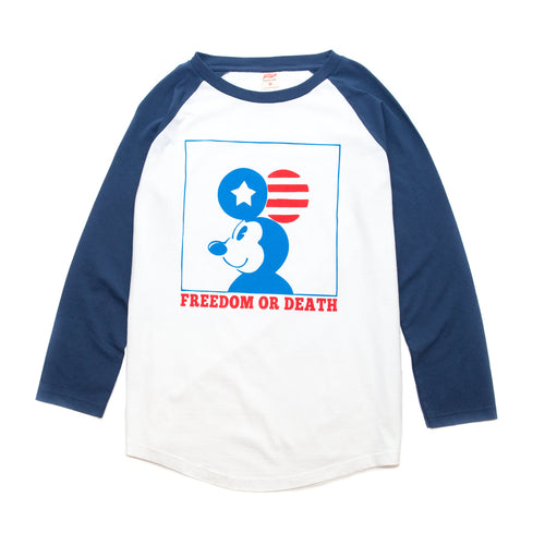 TSPTR Freedom Or Death Raglan Tee White/Navy