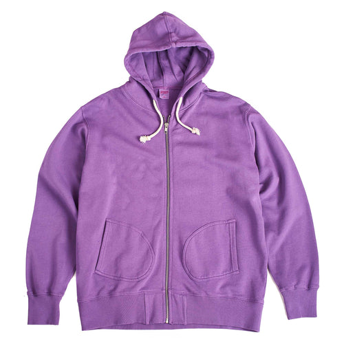 TSPTR Base Zip Thru Hooded Sweatshirt Purple
