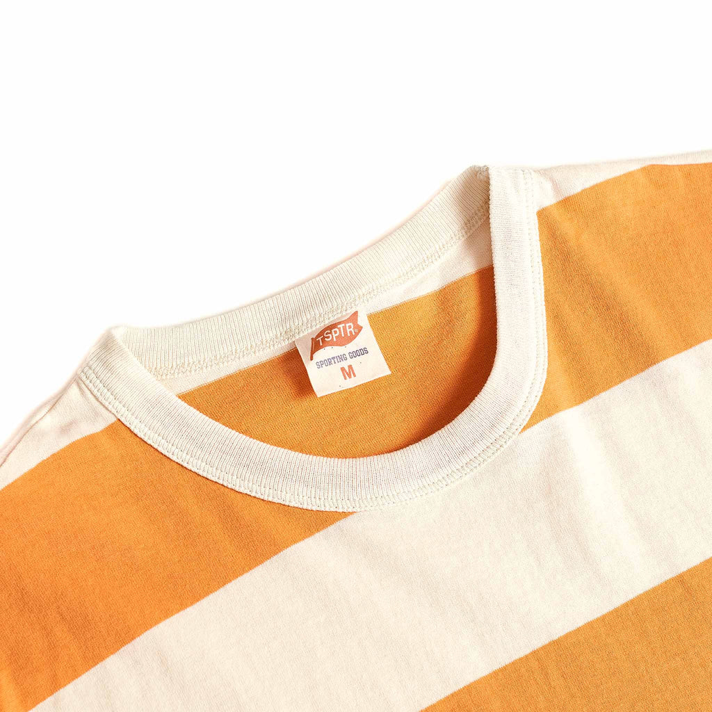 TSPTR Border Stripe T-Shirt White/Tang