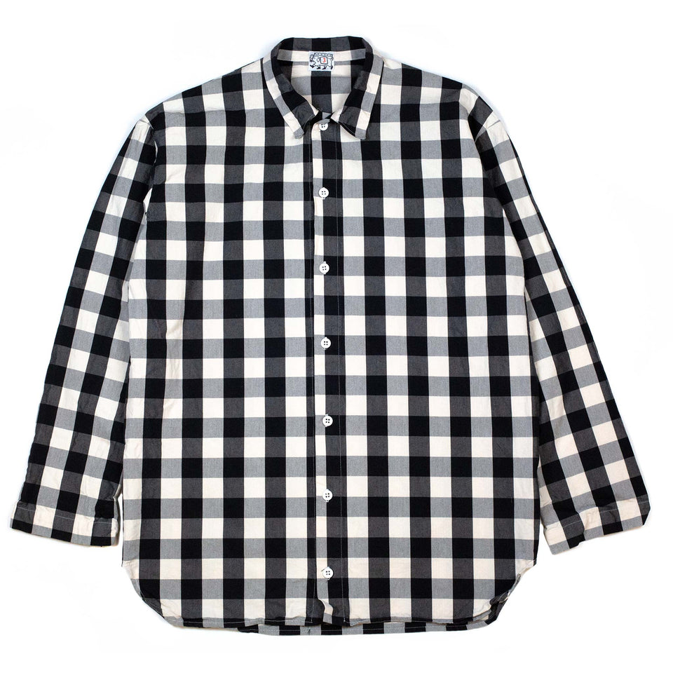 Tender WS420 Weaver's Stock Tail Shirt Cotton Broad Check Black