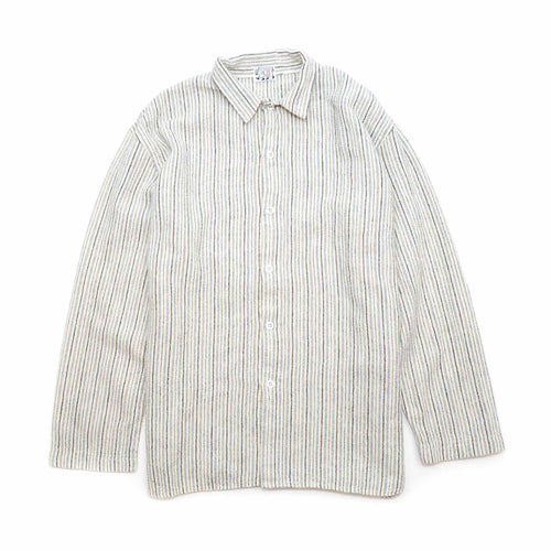 Tender WS420 Weaver's Stock Tail Shirt Shawl Stripe Flannel Cream/Blue
