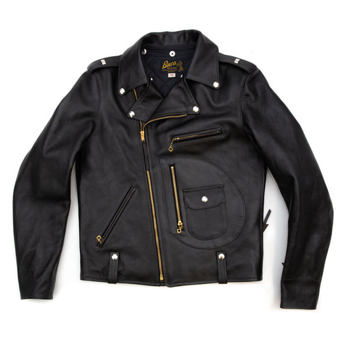 The Real McCoy's BJ9111 J-24 Buco Horsehide Leather Biker Jacket