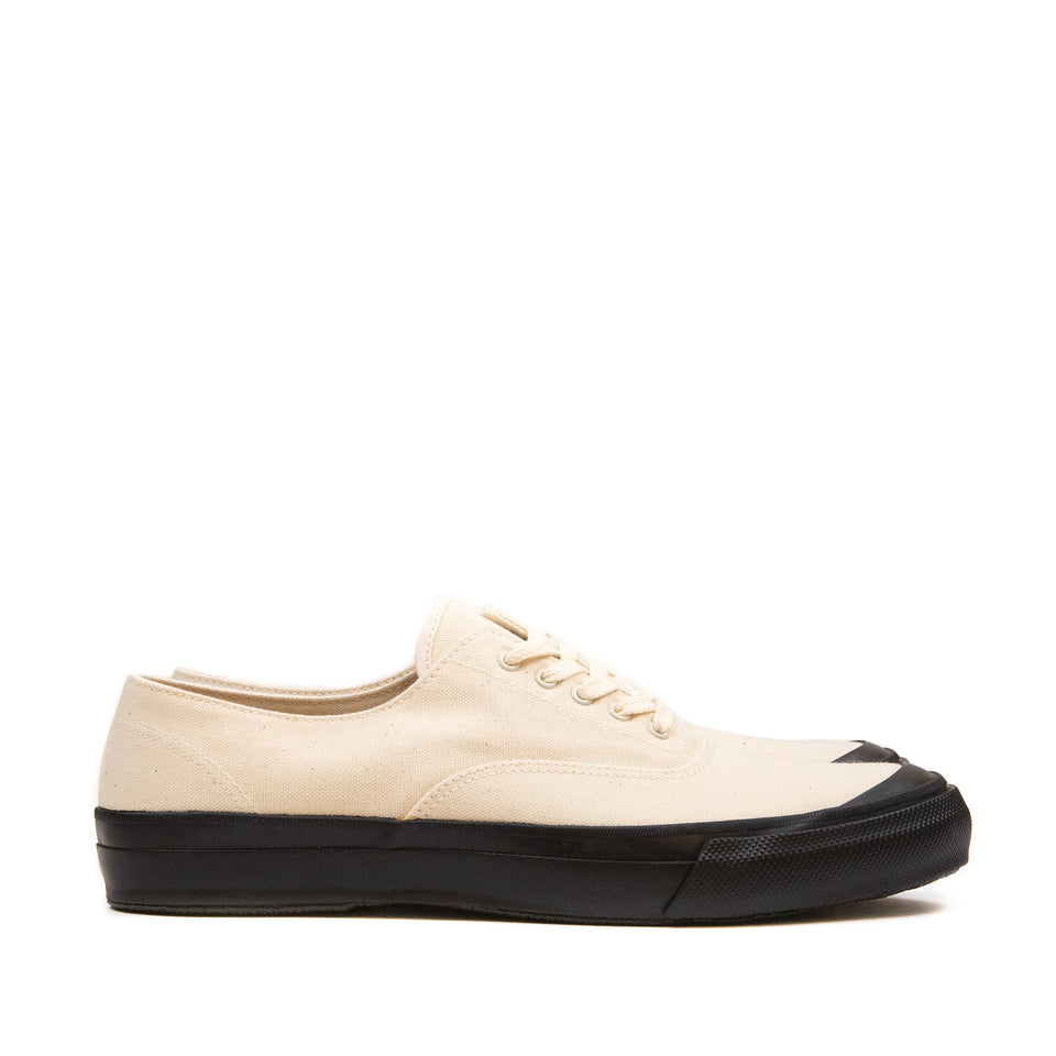 The Real McCoy's MA18019 USN Cotton Canvas Deck Shoes Ecru