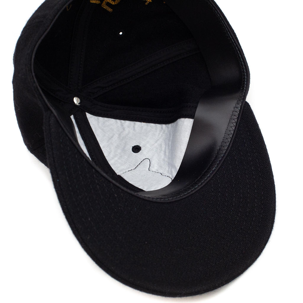 The Real McCoy's MA20108 Wool Baseball Cap / Ventura Black