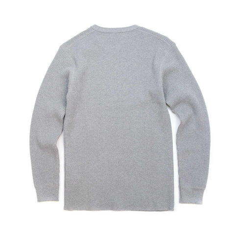 The Real McCoy's MC17117 Waffle Henley Shirt L/S Grey
