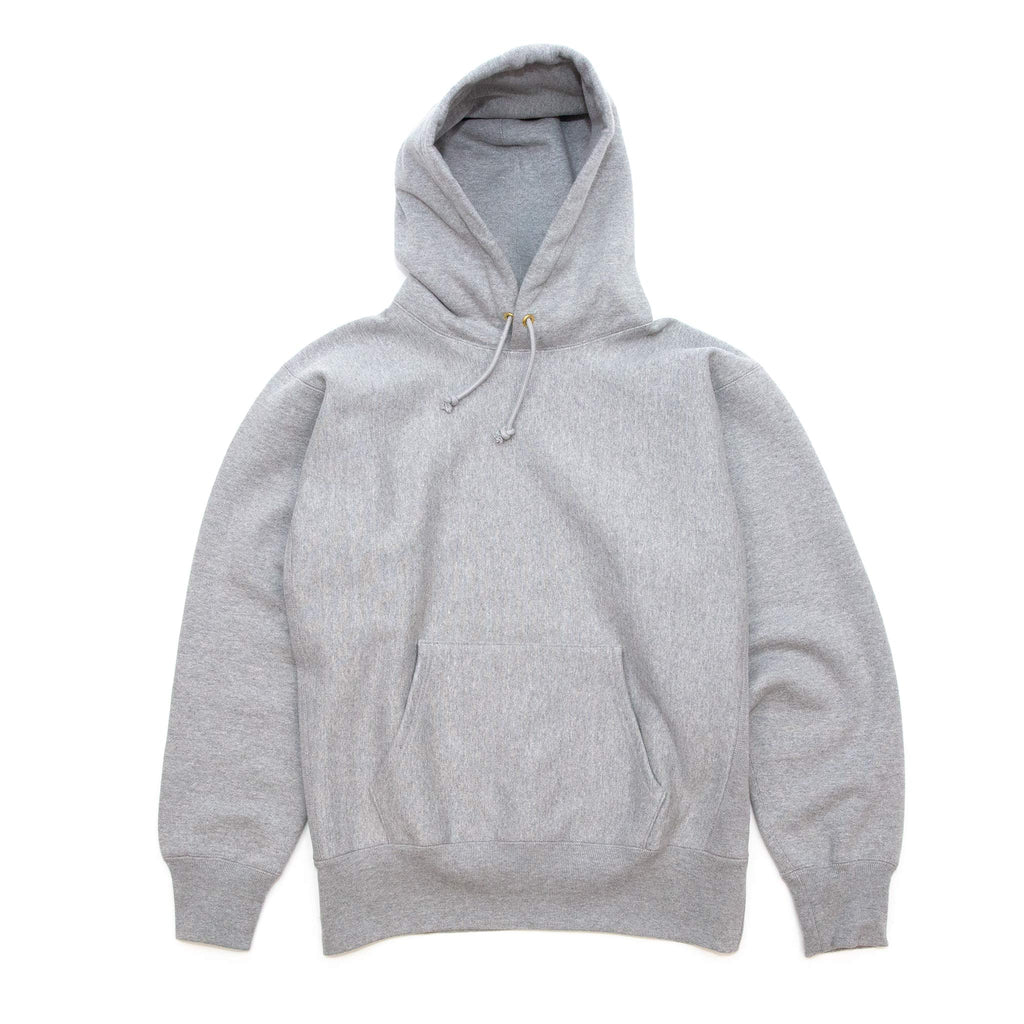 The Real McCoy's MC20113 Heavyweight Hooded Sweatshirt Medium Grey