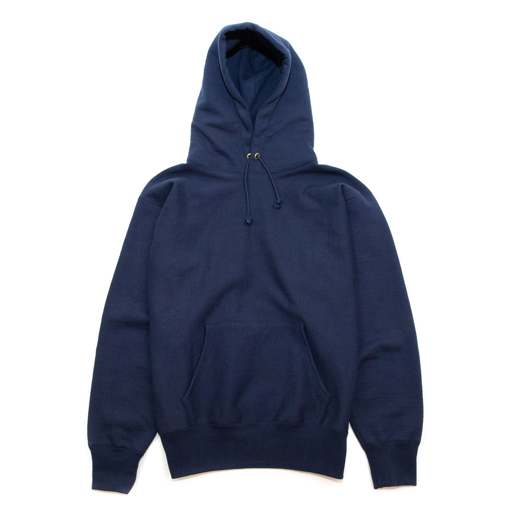 The Real McCoy's MC20113 Heavyweight Hooded Sweatshirt Navy