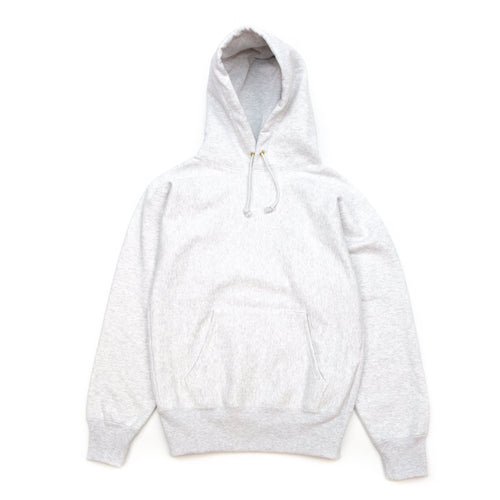 The Real McCoy's MC20113 Heavyweight Hooded Sweatshirt Silver Grey