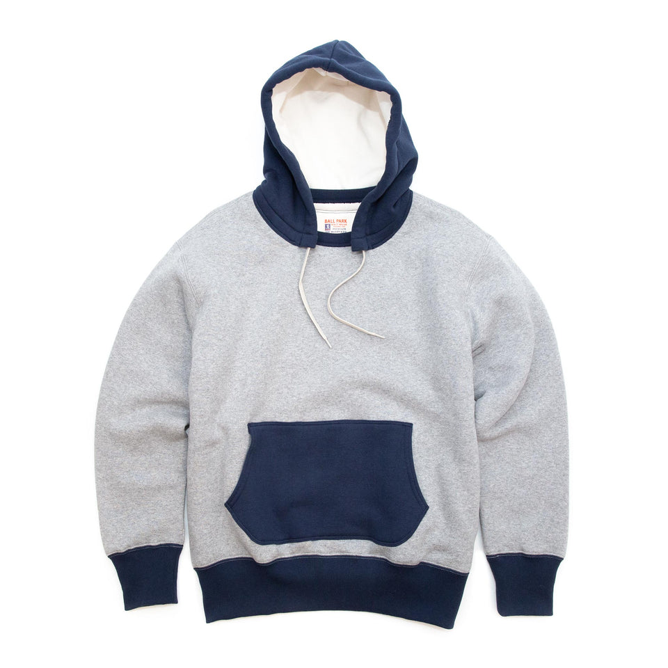 The Real McCoy's MC20119 Double Face After-Hooded Sweatshirt Grey/Navy