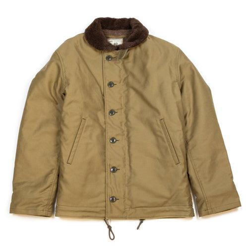 The Real McCoy's MJ13111 N-1 Deck Jacket Khaki
