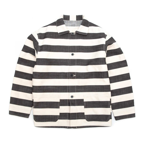 The Real McCoy's MJ20025 Prisoner Jacket White/Black