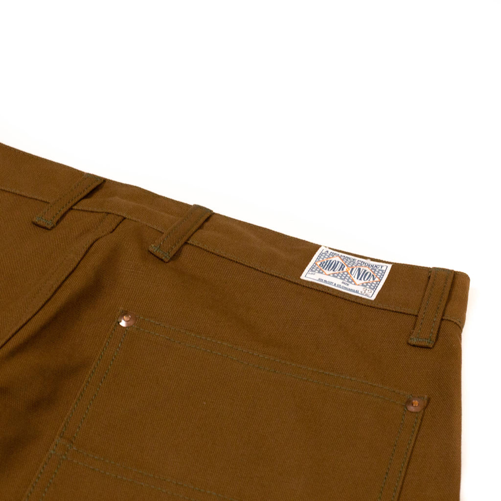 The Real McCoy's MP19102 8HU Canvas Double Knee Work Trousers Brown