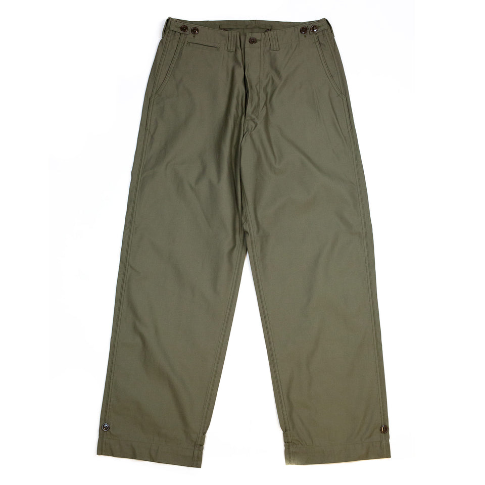 The Real McCoy's MP20103 Trousers, Field, Cotton O.D. Olive