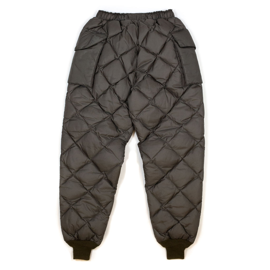 The Real McCoy's MP20105 Nylon Quilted Down Trousers Olive