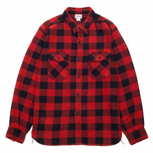The Real McCoy's MS20101 8HU Buffalo Check Flannel Shirt Red/Black