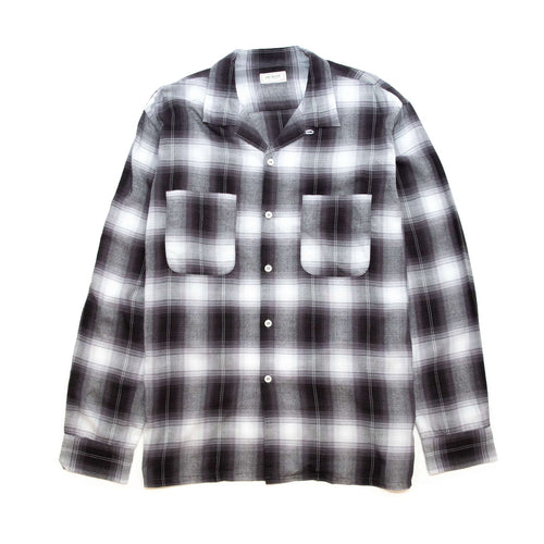 The Real McCoy's MS20102 Shadow Check Rayon Shirt Silver Grey
