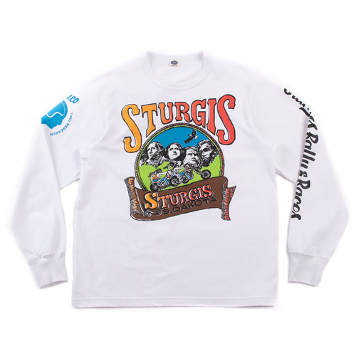 The Real McCoy's BC21006 Buco L/S Tee / Sturgis White