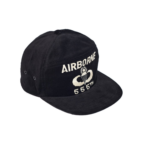 The Real McCoy's MA21001 Velvet Souvenir Cap / Airborne Black