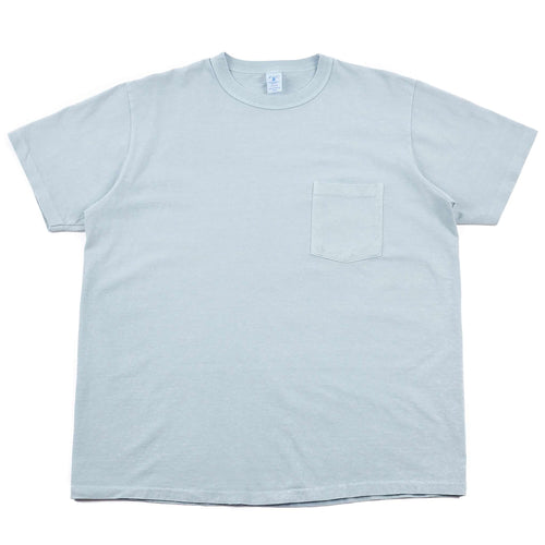 Velva Sheen Pigment Dyed Pocket Tee Pale Blue