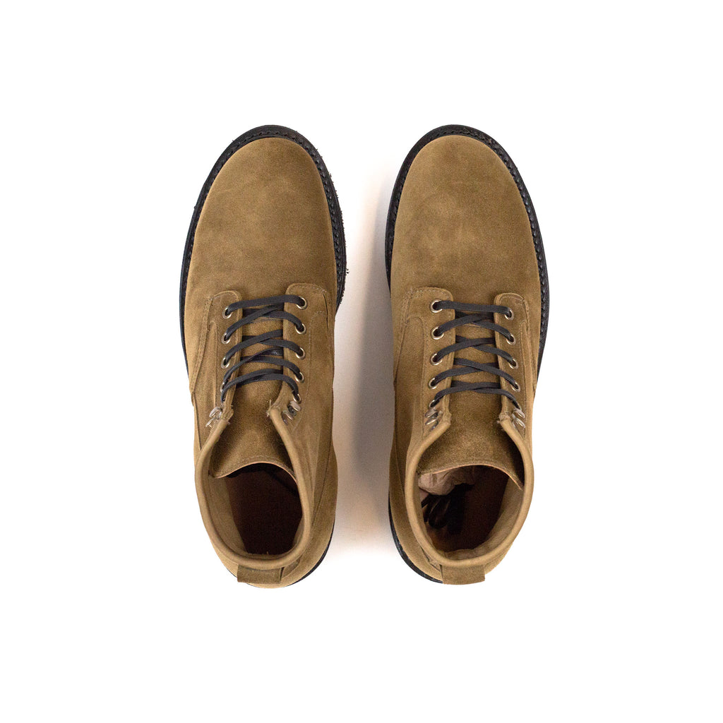 Viberg Scout Boot Bamboo Calf Suede at Shoplostfound in Toronto , top
