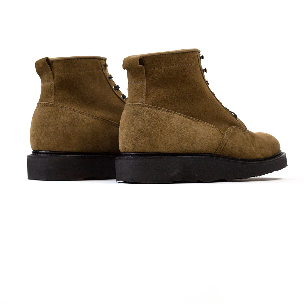 Viberg Scout Boot Bamboo Calf Suede at Shoplostfound in Toronto, back