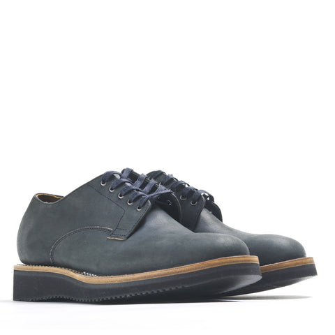 Viberg Black Matte Derby Shoe at shoplostfound in Toronto, profile