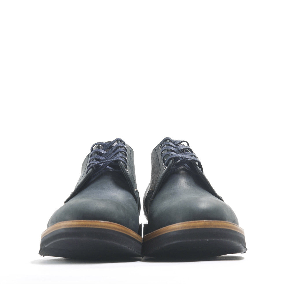 Viberg Black Matte Derby Shoe at shoplostfound in Toronto, front