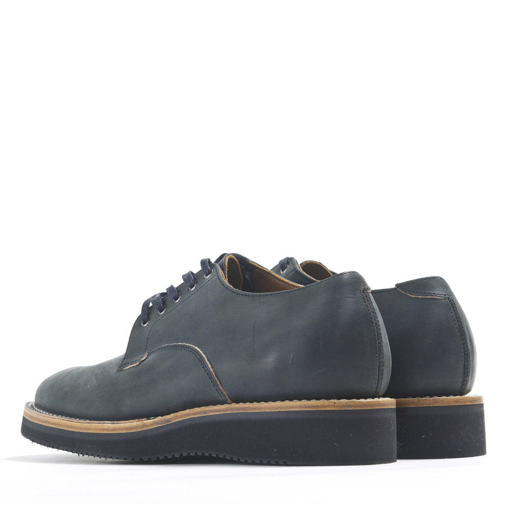 Viberg Black Matte Derby Shoe at shoplostfound in Toronto, back