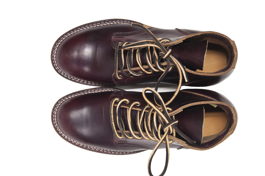 Viberg Colour 8 Chromexcel Service Boot at shoplostfound in Toronto, bird's eye view