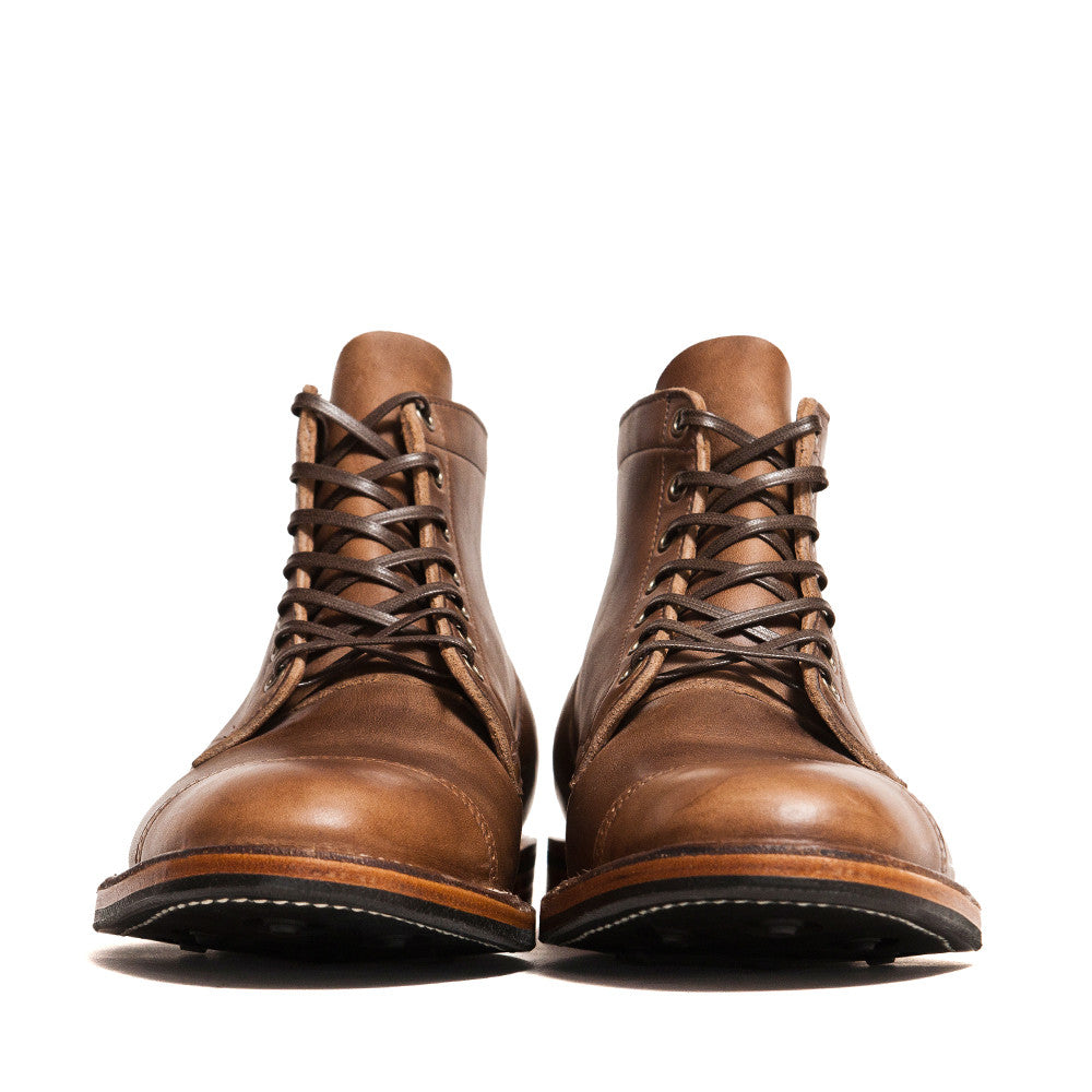 Viberg Natural Chromexcel Service Boot at shoplostfound in Toronto, front