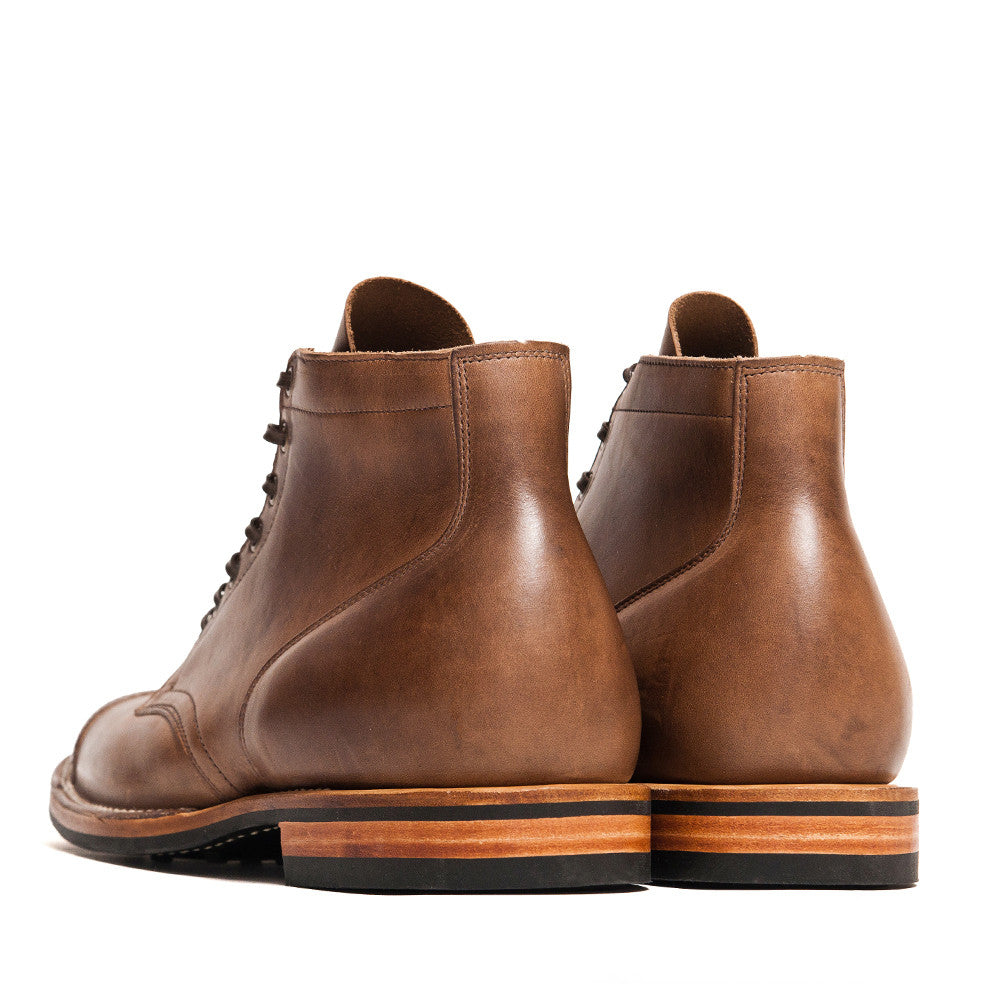Viberg Natural Chromexcel Service Boot at shoplostfound in Toronto, back