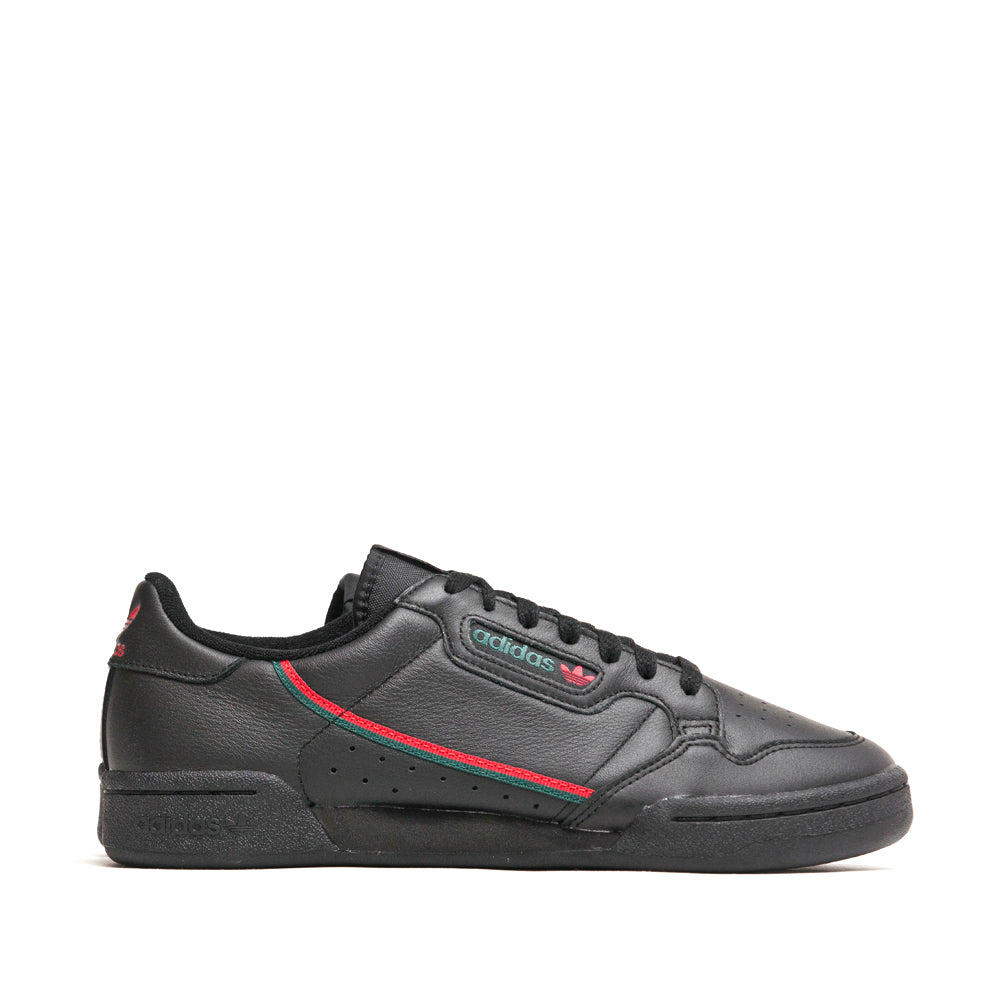 Adidas Continental 80 Core Black Scarlet Green at shoplostfound, side