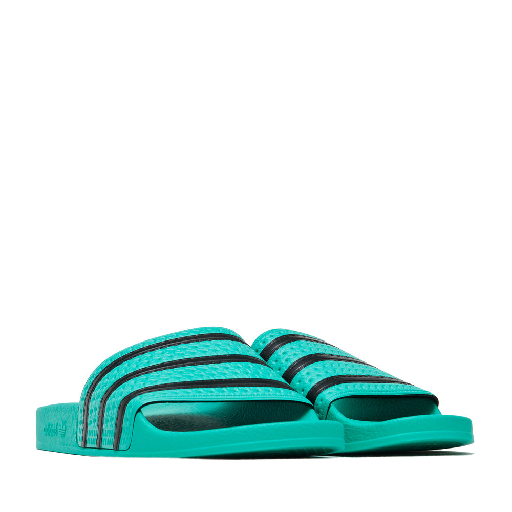 Adidas Originals Adilette Hi-Res Green/Core Black at shoplostfound, 45