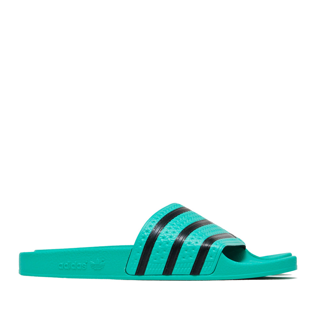 Adidas Originals Adilette Hi-Res Green/Core Black at shoplostfound, side
