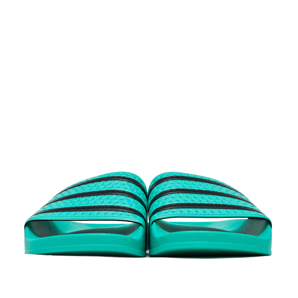 Adidas Originals Adilette Hi-Res Green/Core Black at shoplostfound, front