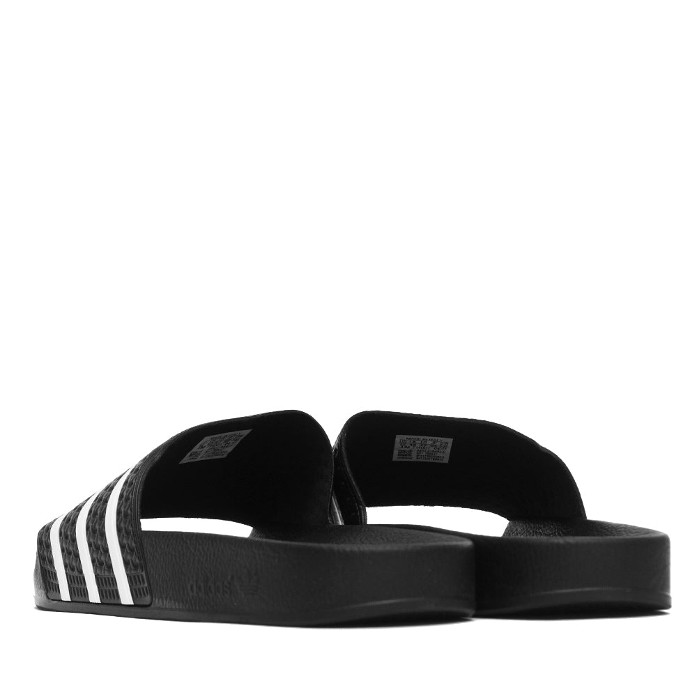 Adidas Originals Adilette Slides Black/White at shoplostfound, back
