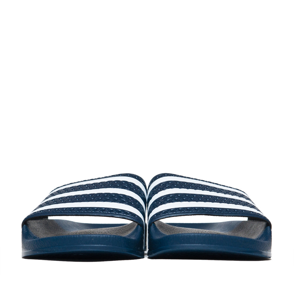 Adidas Originals Adilette Slides Navy at shoplostfound, front