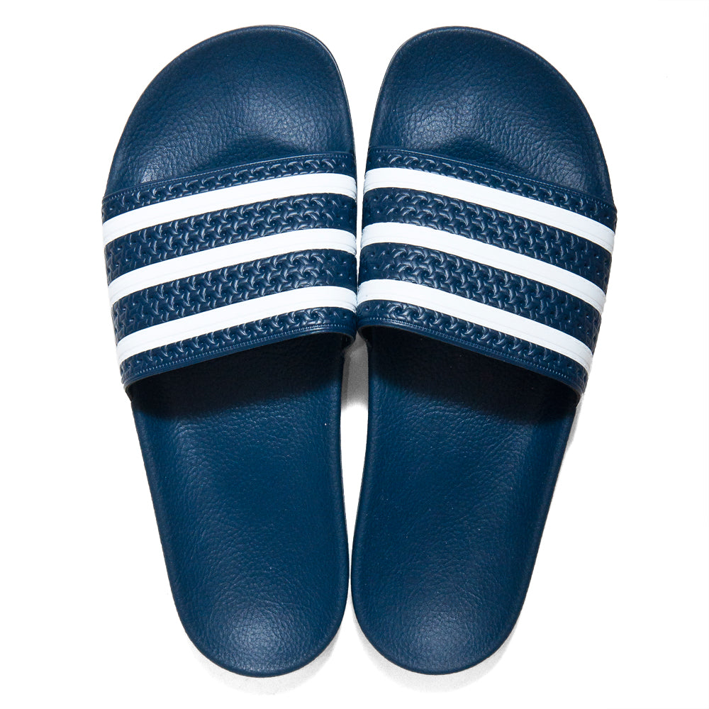 Adidas Originals Adilette Slides Navy at shoplostfound, top