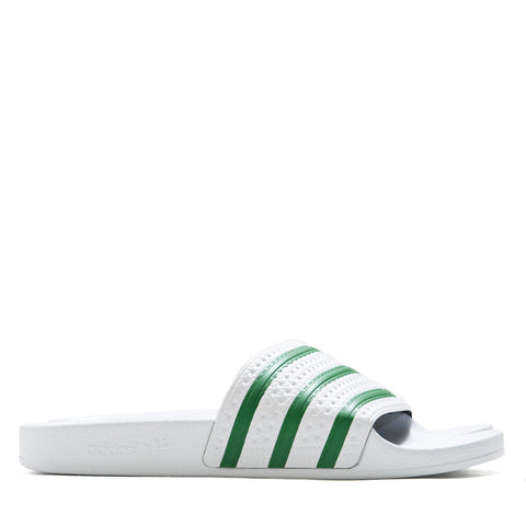 Adidas Originals Adilette White/Green S78678 at shoplostfound in Toronto, product shot