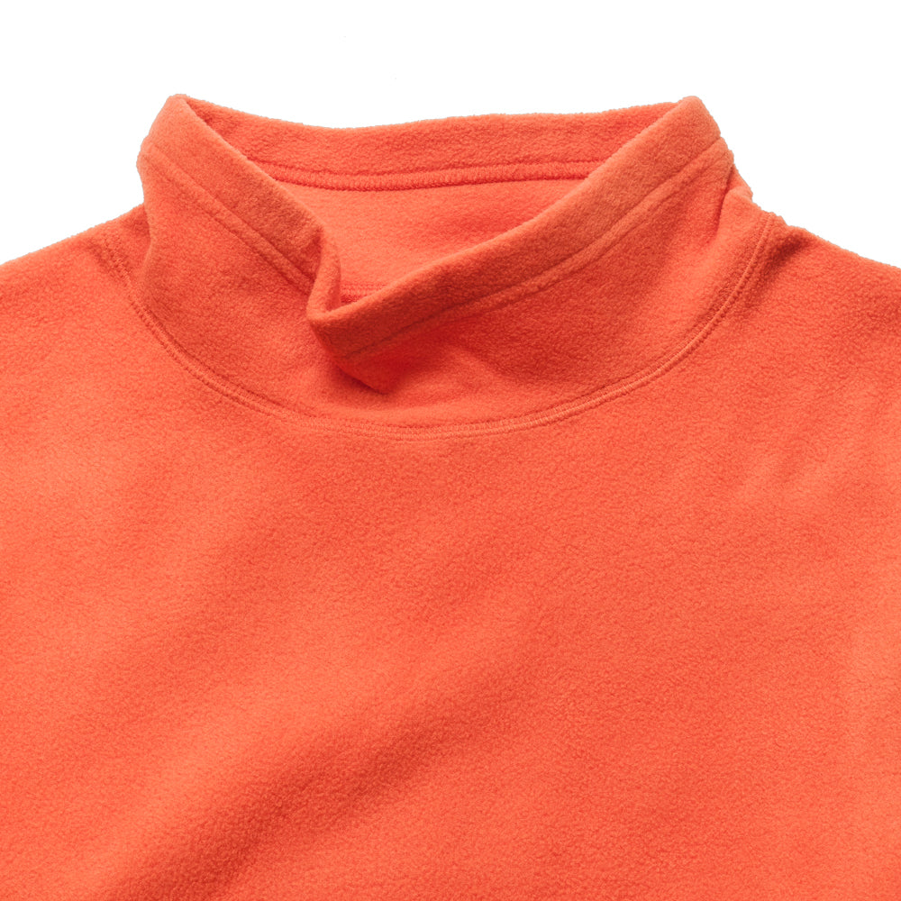 Adsum Flop Neck Fleece Orangina at shoplostfound, neck