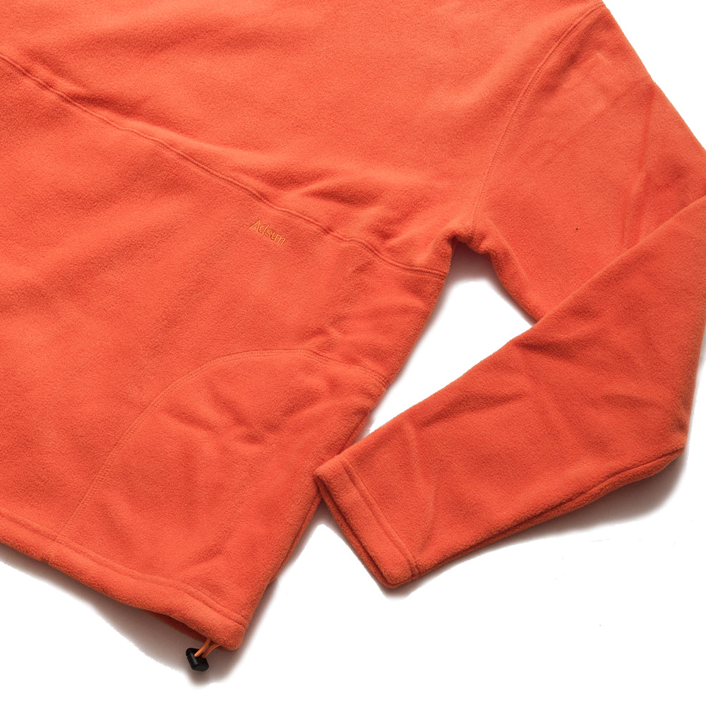 Adsum Flop Neck Fleece Orangina at shoplostfound, cuff