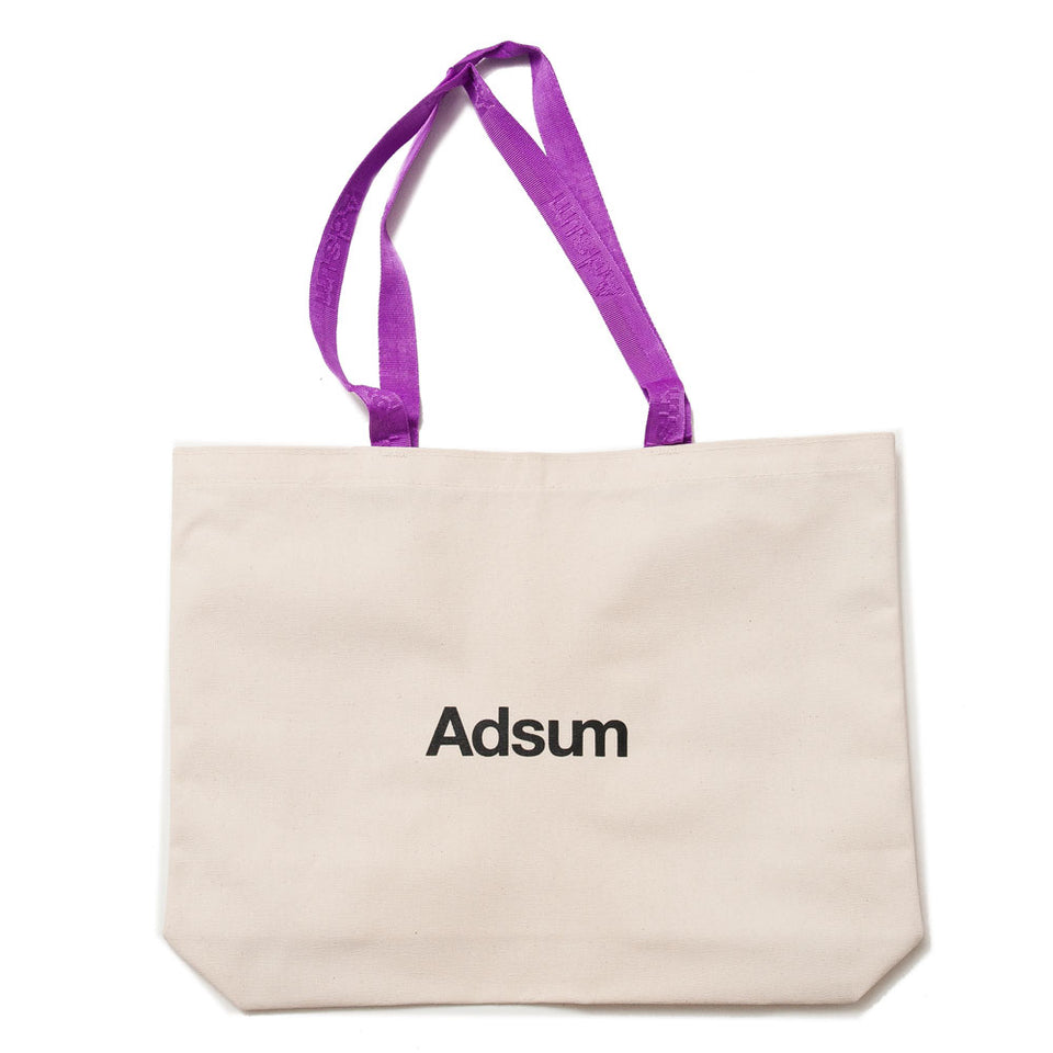 Adsum Tote Bag Natural/Grape shoplostfound 1
