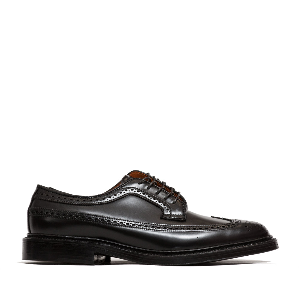 Alden Black Cordovan Longwing Blucher at shoplostfound, side